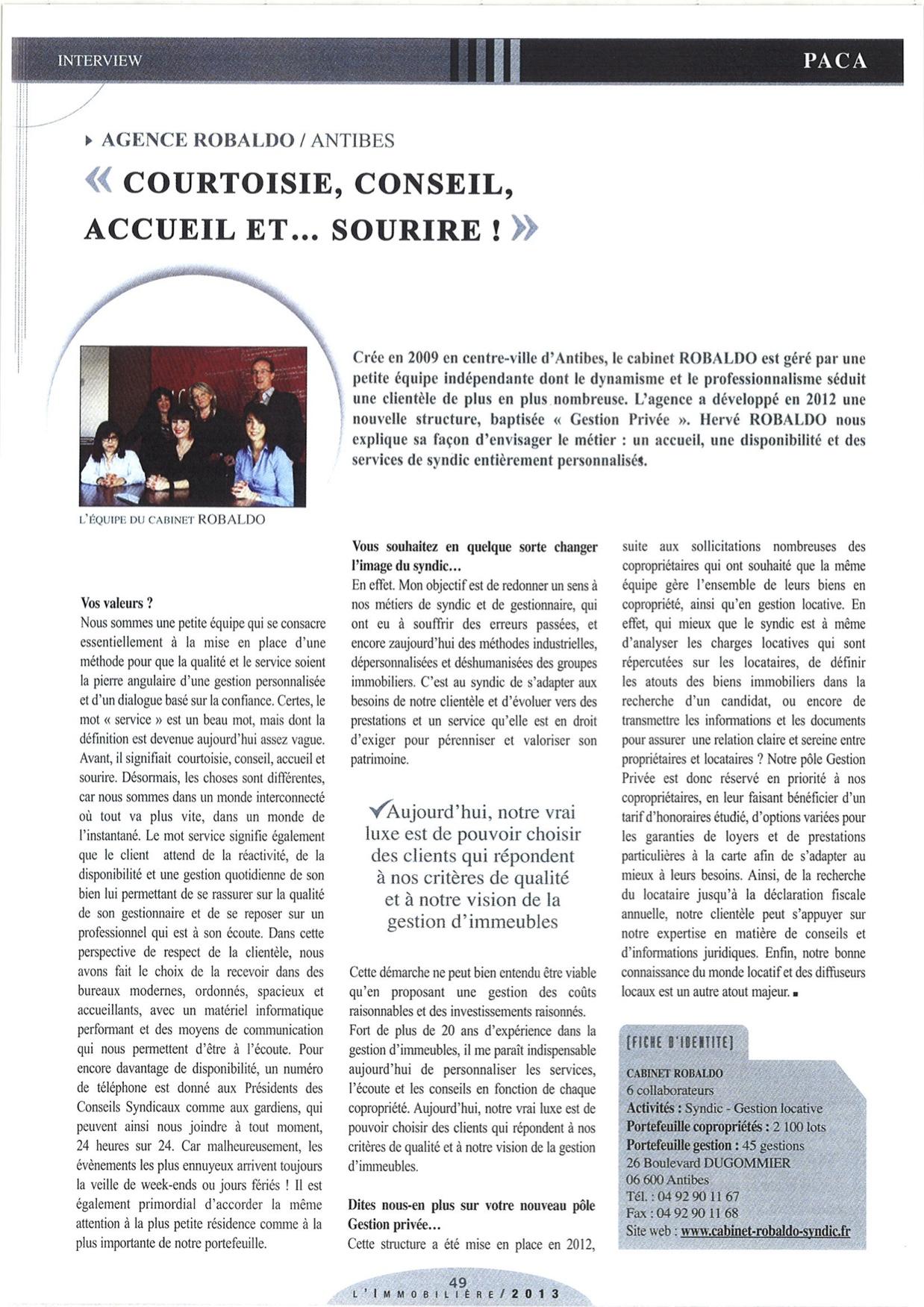 AGIRA revue de presse 2013